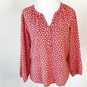 Old Navy Womens Boho Floral Top Size XL Flowy